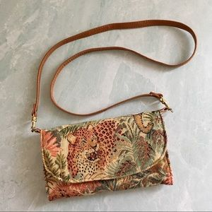 Vintage jungle safari tapestry wallet purse bag